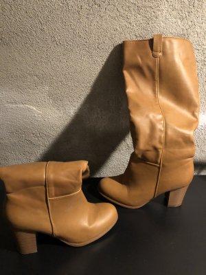 Heel Boots brown-bronze-colored