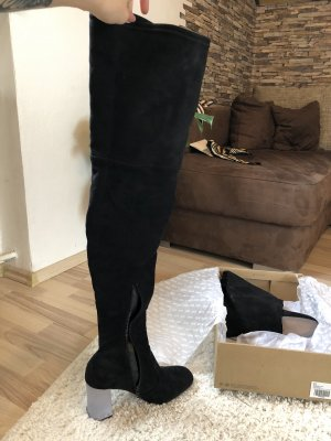 Asos Buty nad kolano czarny