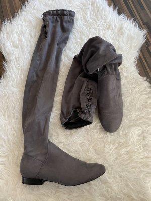 Overknees grey-light grey