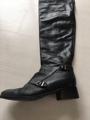 Maripé Overknees black leather