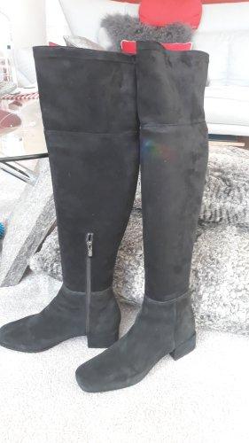 Cafènoir Kniehoge laarzen zwart Leer
