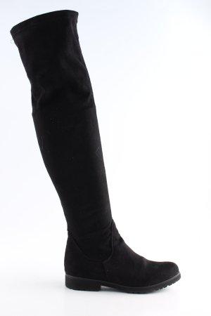 Kniehoge laarzen zwart zakelijke stijl