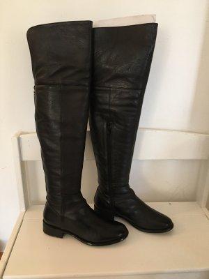 DUNE LONDON Botas sobre la rodilla negro-color plata