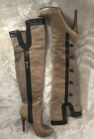 Guess by Marciano Botas sobre la rodilla marrón grisáceo-marrón oscuro