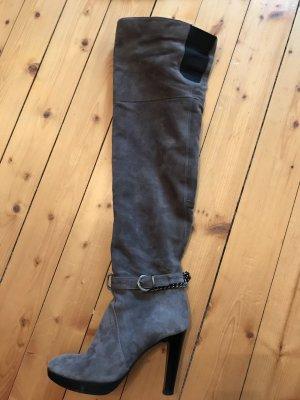 Laura Kniehoge laarzen grijs