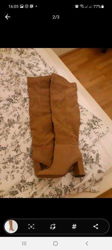 H&M Kniehoge laarzen beige-camel