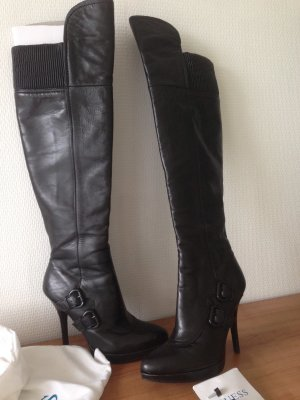 Guess Stivale cuissard nero Pelle