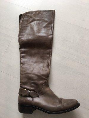 Overknees taupe leather