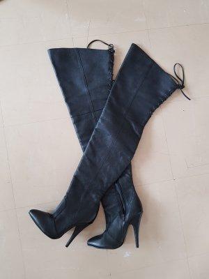 Pleaser Cuissarde noir cuir