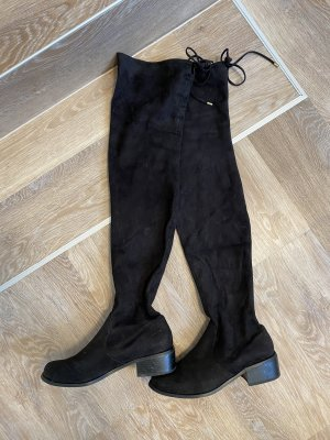River Island Kniehoge laarzen zwart