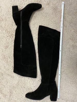 5th Avenue Botas sobre la rodilla negro Cuero