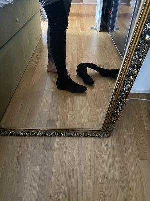 Overknees Stiefel 39 schwarz  Leder