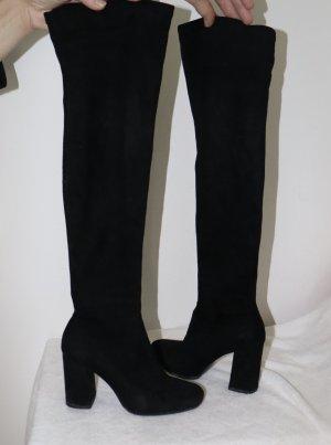 Zara Basic Botas sobre la rodilla negro