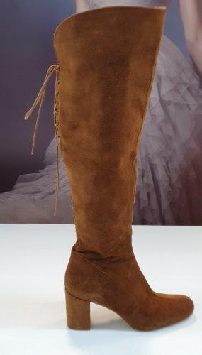 Overknees, Stiefel aus Leder von Zara