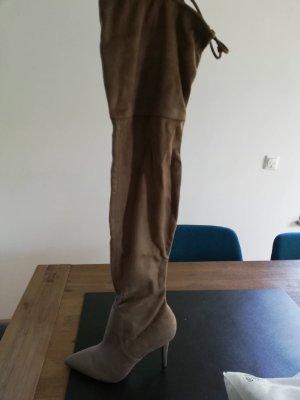 Aldo Kniehoge laarzen beige