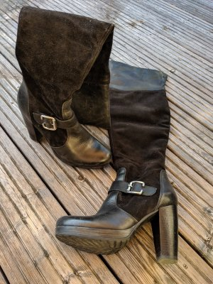 Winter Boots black-silver-colored