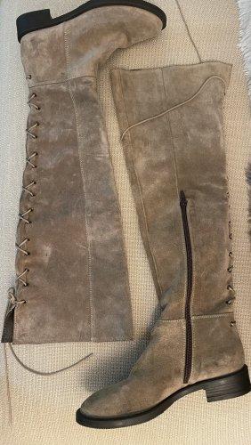Stella Moda Overknees grey brown