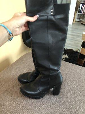 Alba Moda Heel Boots black leather