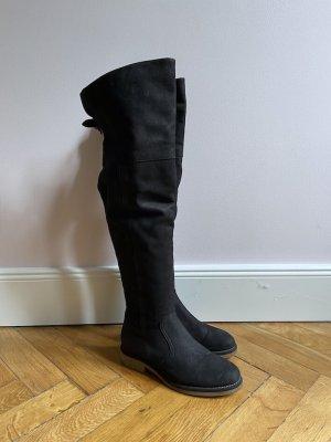 Overknees Stiefel Nubuk 37 schwarz