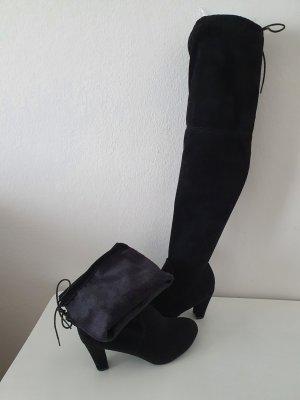 Overknees Stiefel Schwarz Gr. 41,5