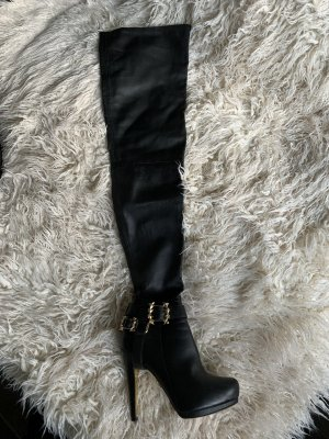 Anna Dello Russo for H&M Overknees black leather