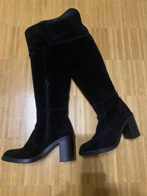 Esprit Botas sobre la rodilla negro Cuero