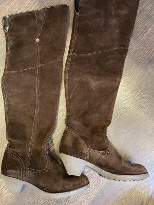 Buty nad kolano brązowy