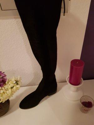 Hallhuber Botas sobre la rodilla negro