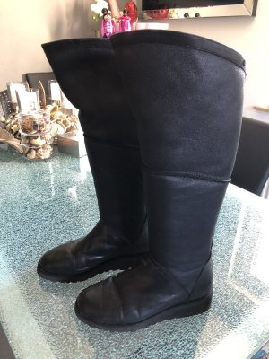 UGG Stivale cuissard nero Pelle