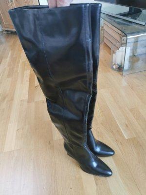 Reserved Botas sobre la rodilla negro