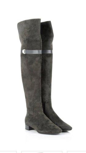 Christian Dior Botas sobre la rodilla gris