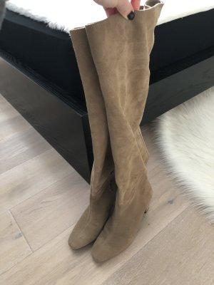 Zara Overknees beige