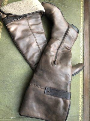 Apepazza Kniehoge laarzen grijs-bruin