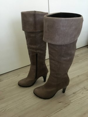 5th Avenue Overknees grey leather