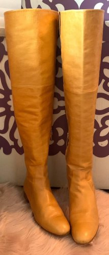 Zara Overknees gold orange