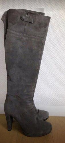 Tamaris Botas sobre la rodilla gris Cuero