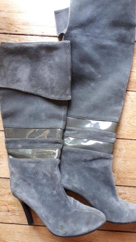 Overkneestiefel von Boss in grau schwarz 37,5