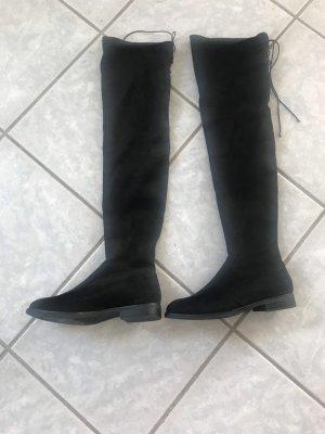 Graceland Botas sobre la rodilla negro