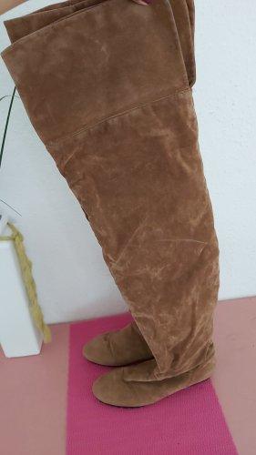 Buty nad kolano jasnobrązowy-brązowy