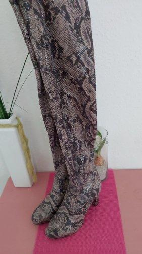 Buty nad kolano jasnobeżowy-beżowy