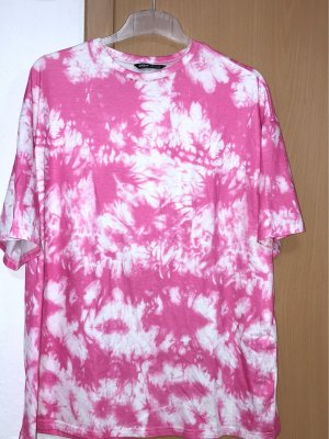 Oversize batik T-shirt Rosa weis