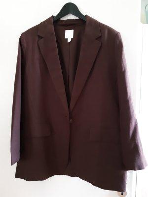 H&M Oversized Jacket dark brown