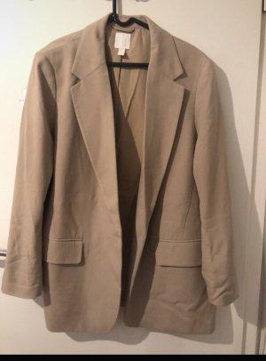 H&M Blazer stile Boyfriend beige-crema
