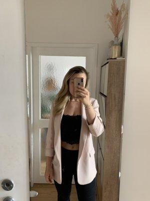 Zara Blazer stile Boyfriend rosa chiaro-rosa antico