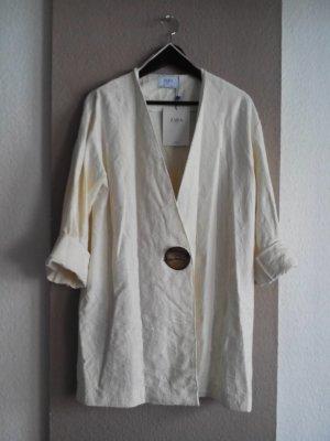 Oversize Blazer mit Knopf aus 95% Baumwolle, Größe S neu