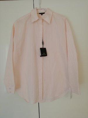 Massimo Dutti Blusa taglie forti crema-rosa pallido