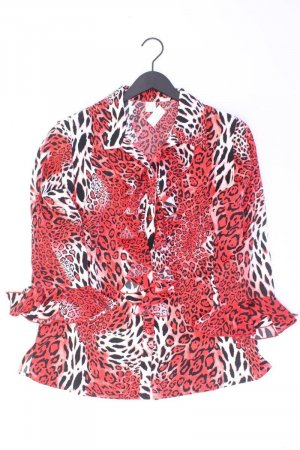 Oversize-Bluse Größe 42 mit Tierdruck 3/4 Ärmel rot aus Polyester
