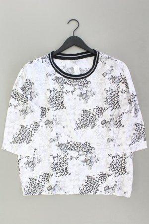 Oversize-Bluse Größe 42 mit Tierdruck 3/4 Ärmel weiß aus Viskose