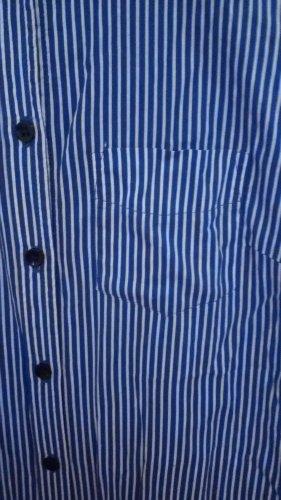 Oversize Bluse in blau weisser Streifen