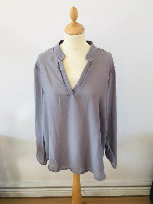 Oversize Bluse in Grau